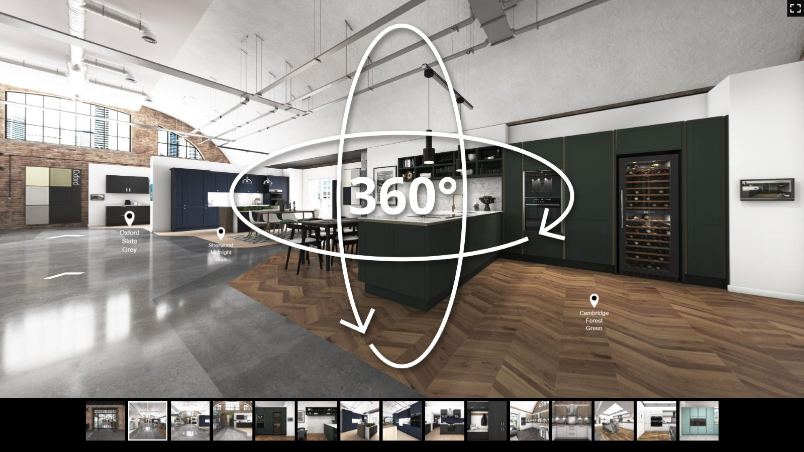 360 kitchen showroom virtual tour