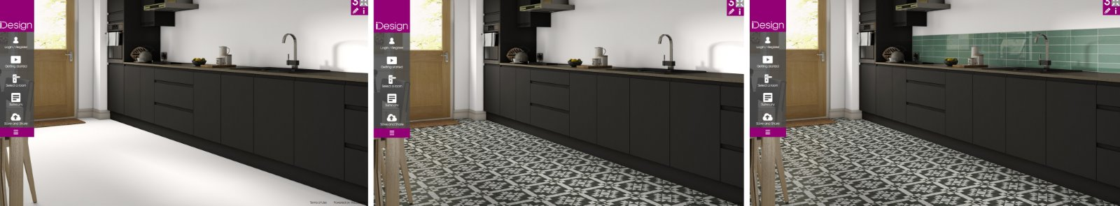 Black handless kitchen tiles